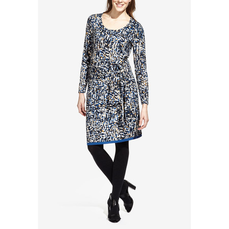 Sandwich Clothing Tie Detail Printed Jersey Dress - Blue