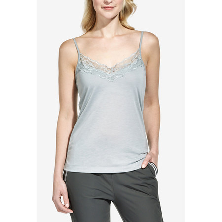 Sandwich Clothing Lace Jersey Cami Top - Grey