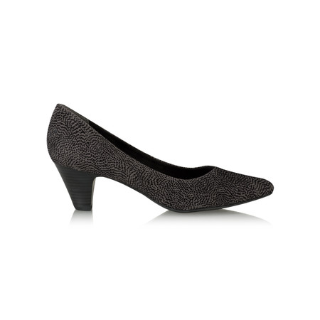 Marco Tozzi Josie Imit Suede Printed Court Shoe - Grey