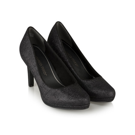 Marco Tozzi Monika High Heel Court Shoe - Black
