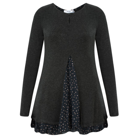 Myrine Bacchus Dots and Hearts Top - Black