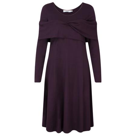 Myrine Pele Jersey Cross Over Dress - Purple