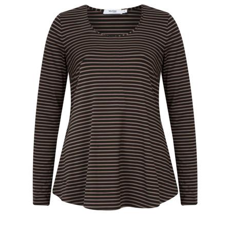 Myrine Neptunes Striped Jersey Top - Black