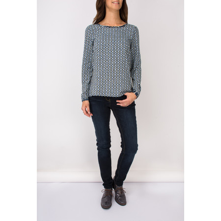 Sandwich Clothing Woven Long Sleeve Blouse - Blue