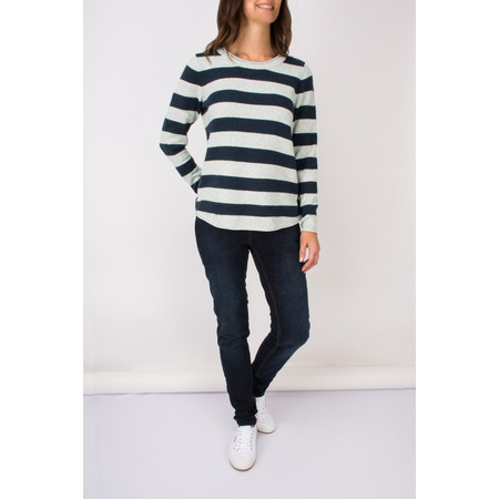 Sandwich Clothing Fluffy Striped Pullover - Blue