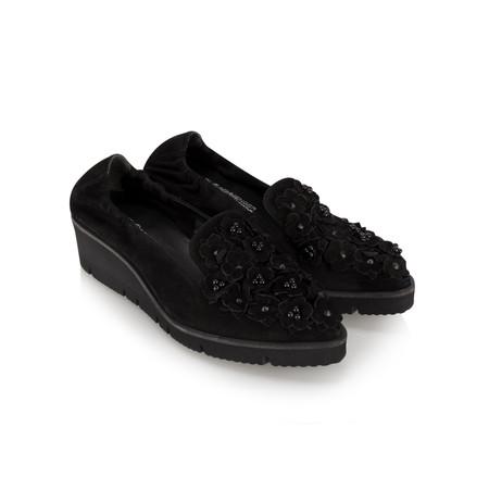 Kennel Und Schmenger Doro Flower Wedge Shoe - Black