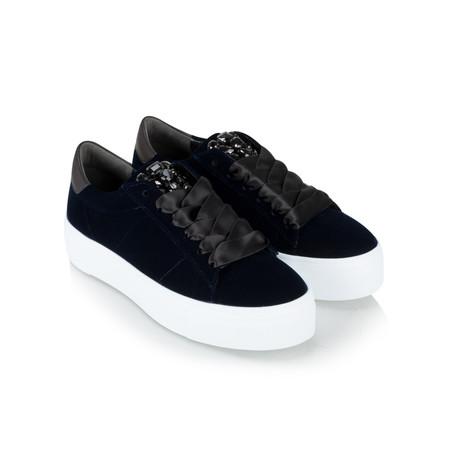 Kennel Und Schmenger Big Velvet Luxe Trainer Shoe - Blue