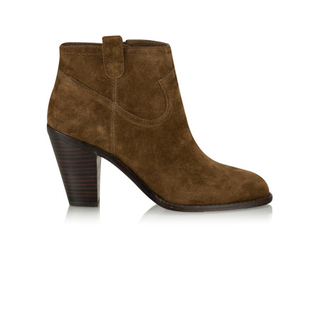 Ash Ivana Baby Soft Suede Ankle Boot - Brown