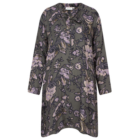 Masai Clothing Gry Floral Tunic - Grey