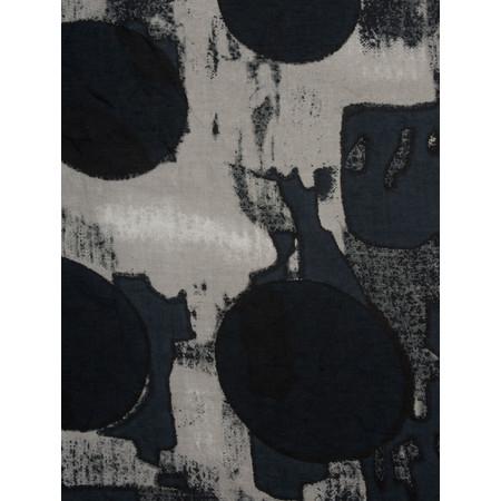 Masai Clothing Abstract Circle Print Along Scarf - Black