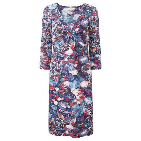 Adini Henley Flower Print Henley Dress - Multicoloured
