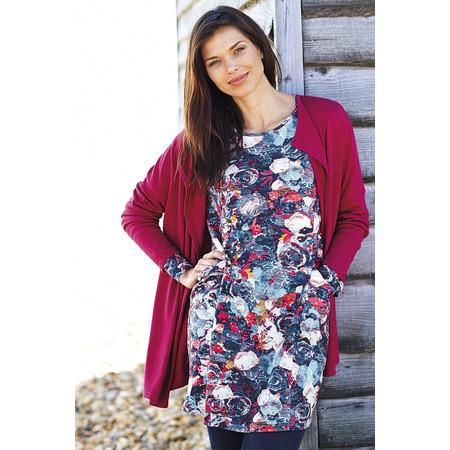 Adini Henley Flower Print Kidmore Tunic - Multicoloured