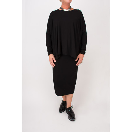 Masai Clothing Blomsa Oversized Top - Black