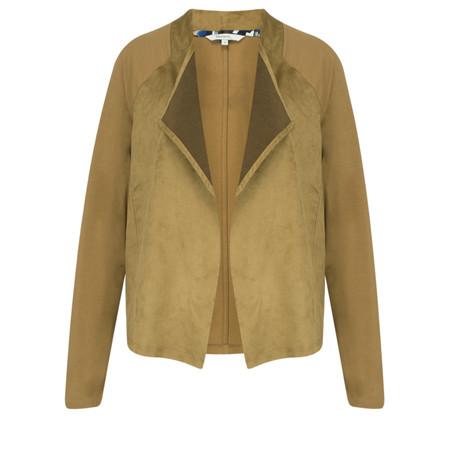 Sandwich Clothing Lightweight Faux Suede Jersey Jacket - Beige