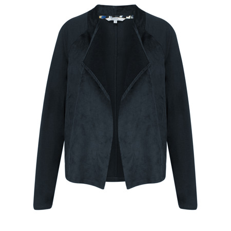 Sandwich Clothing Lightweight Faux Suede Jersey Jacket - Blue