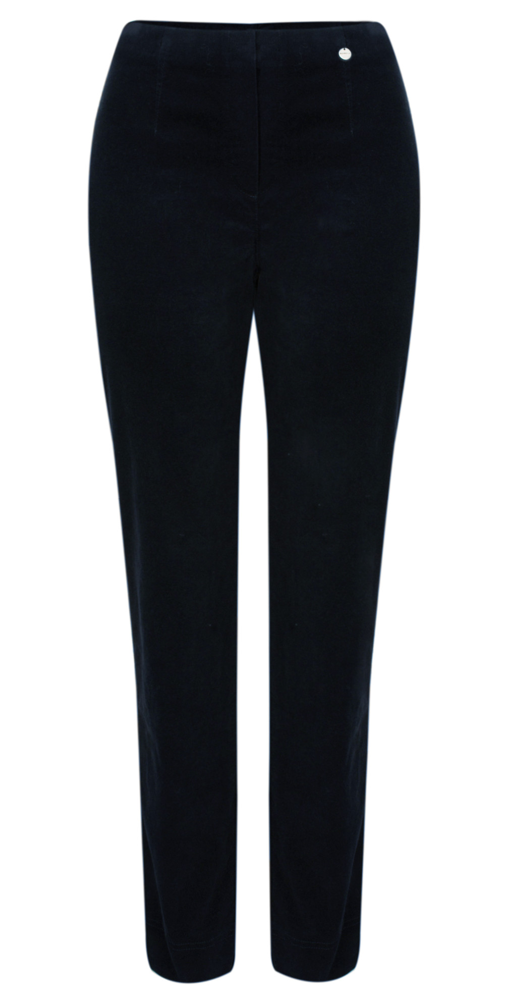 Marie Stretch Cotton Velvet Slim Full Length Trouser main image