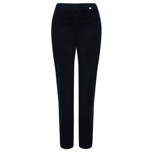 Robell  Marie Stretch Cotton Velvet Slim Full Length Trouser