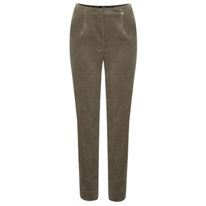 Robell Trousers Marie Stretch Cotton Velvet Slim Full Length Trouser