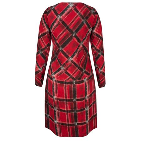 Sandwich Clothing Tartan Print Jersey Dress  - Red