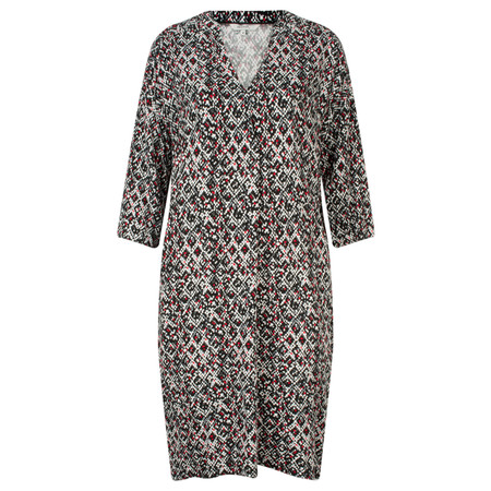 Sandwich Clothing Mixed Square Print Tunic Dress - Black