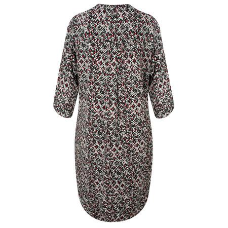 Sandwich Clothing Mixed Square Print Tunic Dress - Black