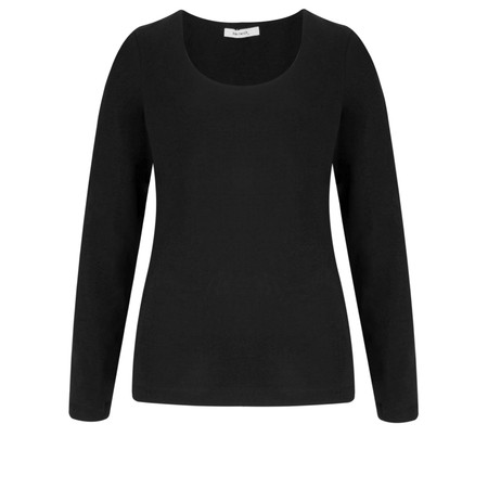 Sandwich Clothing Essential Stretch Jersey Long Sleeve Top - Black