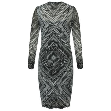 Sandwich Clothing Fine Netting Graphic Printed Dress - Black
