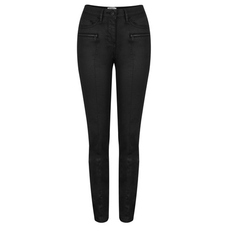 Sandwich Clothing Coated Stretch Twill Trousers - Black