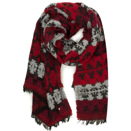 Sandwich Clothing Multi Printed Scarf - Red