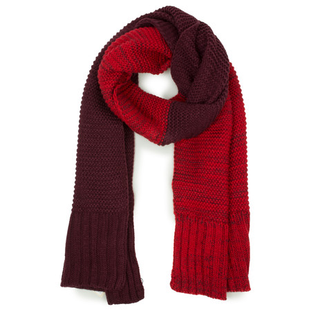 Sandwich Clothing Two Tone Knitted Scarf - Red