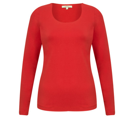 Sandwich Clothing Essential Stretch Jersey Long Sleeve Top - Red