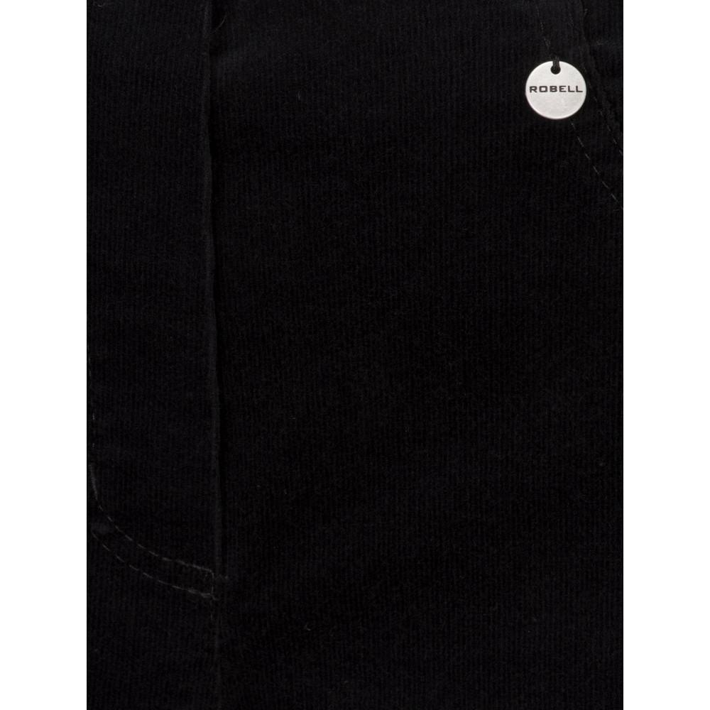 Robell Bella  Black Needlecord Full Length Trouser Black