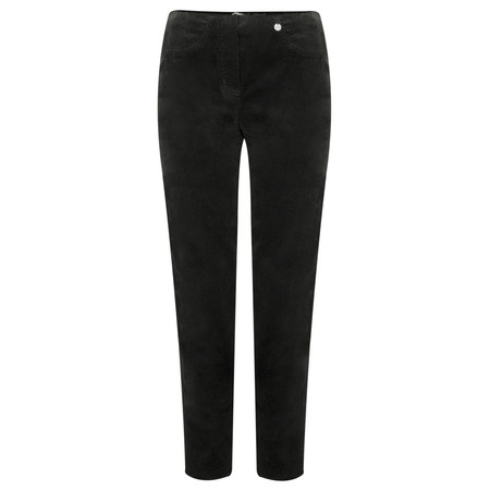 Robell Trousers Bella 78cm Needlecord Full Length Trouser - Grey