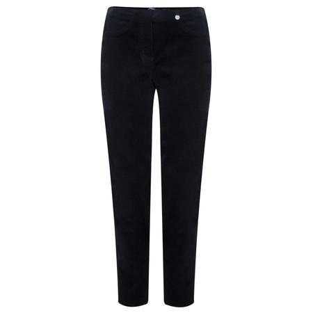 Robell Trousers Bella 78cm Needlecord Trouser - Blue