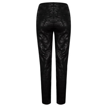 Robell Trousers Bella Floral Abstract Print Trouser - Black
