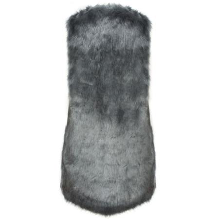 Lauren Vidal Riva Faux Fur Gilet - Blue