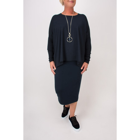 Masai Clothing Sunita Fitted Skirt  - Blue