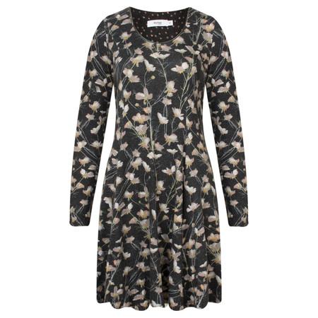 Myrine Bres Floral Jersey Tunic Dress - Black