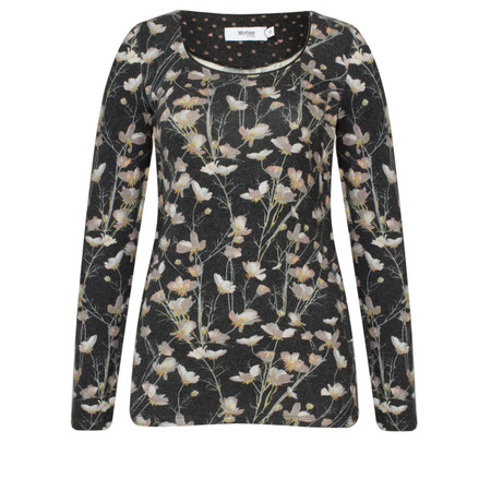 Myrine Boann Floral Jersey Top - Black
