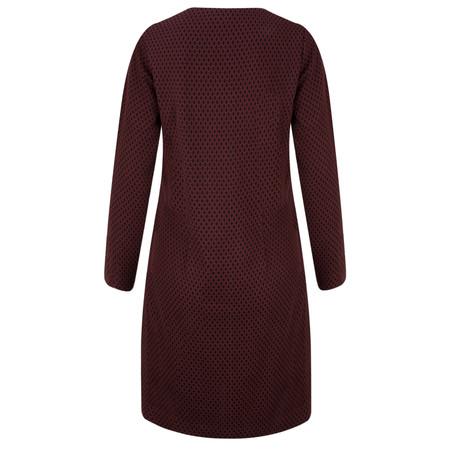Sandwich Clothing Dot Print Jacquard Dress - Purple
