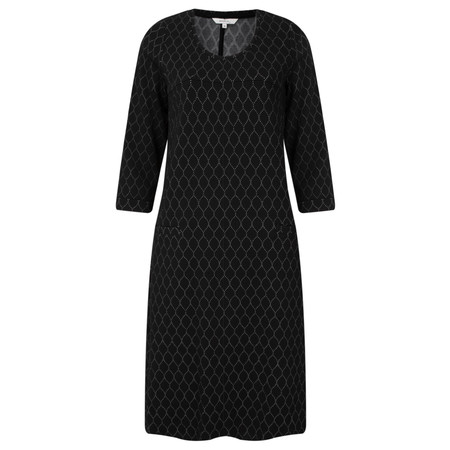 Sandwich Clothing Circle Jacquard Print Dress - Black