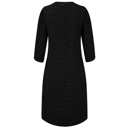 Sandwich Clothing Circle Jacquard Print Dress - Black