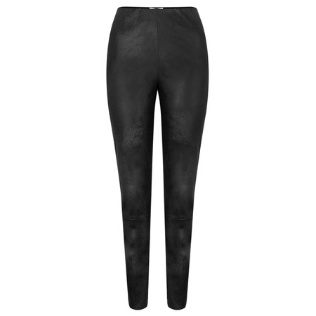 Sandwich Clothing Faux Suede Leather Look Trousers  - Black
