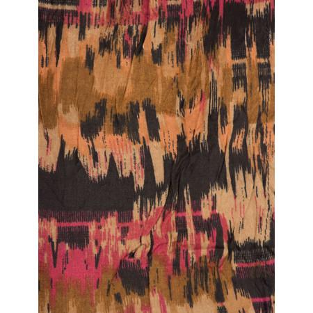 Masai Clothing Patterned Along Scarf - Orange