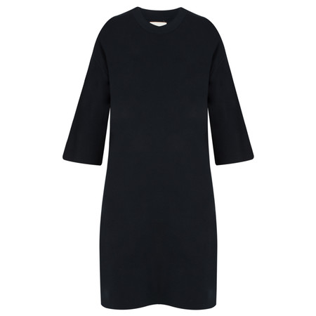 Yaya Oversized Knitted Tee Dress - Blue