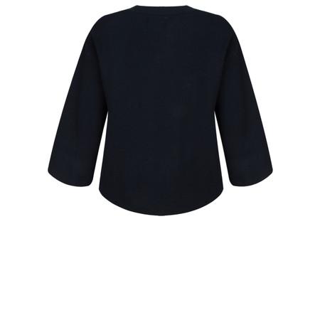 Yaya Boxy Crop Sweater - Blue