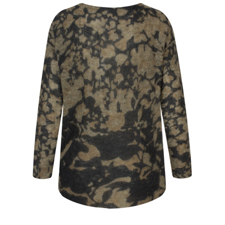 Yaya Printed Knit Sweater  - Beige