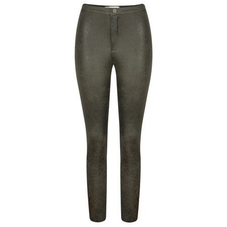 Yaya Faux Leather Jersey Treggings - Green