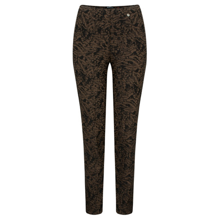Robell Trousers Marie Abstract Animal Trouser - Beige