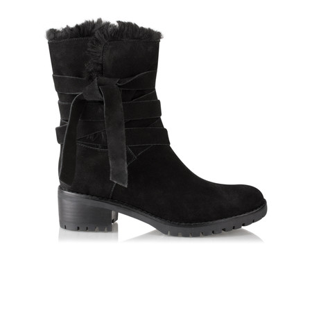 Vanilla Moon Shoes Ambra Fur Lined Boot - Black